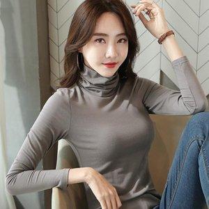 Black High Collar Base Shirt Women Long Sleeve Autumn and Winter Korean-style Thin Tight Underwear Fashion T-shirt Western Style