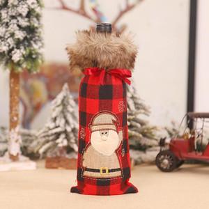 Wine Cover Christmas Clothes Santa Snowman Wine Bottle Decor Casier Bouteille Bottle Decoration Bolsas Para Botellas De Vino yxldwQ