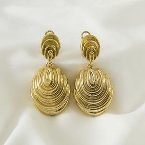 Sunnice Big Long Long goutte Boucles d'oreilles pour femmes Boucles d'oreilles Bijoux de mariage Accessoires Copper Gold Boucles d'oreilles Banquet Queen