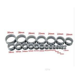 1 Pair Stainless Steel Ear Tunnels Plugs Gold Silver Black Expander Stretcher Ear Gaug jllCdm yummy_shop