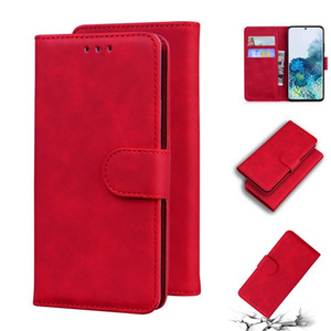 Skin Feel Wallet Leather Case For Samsung NOTE 20 Ultra S20 PLUS A51 5G A71 A21S M31S A11 M11 A31 A41 A01 A21 A20 A10 Matte Stand Book Cover