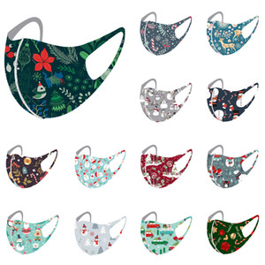 christmas face mask hot sale Christmas hanging ear mask for kids with washable breathable Christmas tree pattern mask