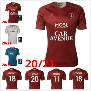 20/21 FC Metz Soccer Jerseys 2021 Brun Fofana Niane Boulaya Centonze Diallo Vagner Maillot de pied de football Chemise