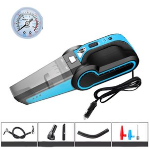 4 in 1 Portable Car Vacuum Cleaner Handheld with Air Compressor LED Light 120W Wet & Dry Vacuum Cleaner