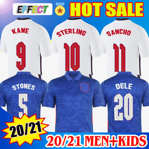 2020 Fußballtrikots England 2021 KANE STERLING VARDY RASHFORD DELE 20 21 Nationalmannschaften Fußballtrikot Männer + Kinder Trikot Uniformen