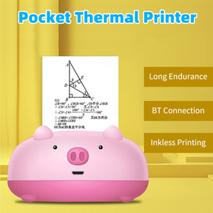 Mini Pocket Printer Bluetooth Thermal Printer Photo Picture Memo List Receipt Printers For Student BT Wireless Connection 200dpi