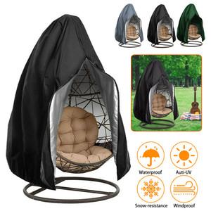 Outdoor Waterproof Garden Furniture Garden Swing Zipper Protective Balcony Furniture Cover Hanging Egg Swing Chair Cover LJ200815