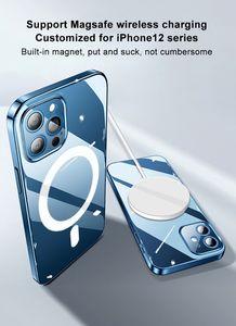 iPhone 12/12 미니 / 12 Pro / 12 Pro Max 지원 마그네틱 무선 충전기 커버 아이폰 12 케이스 Magsafe에 대한 보호 케이스 Magsafe