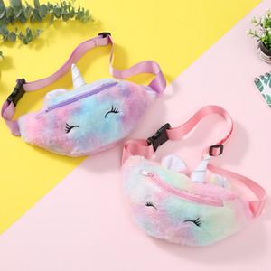 Kid Unicorn Stuffed Pencil Waist Bag Belt Fanny Pack Beach Bag Student Teenager Purses Sports Unisex Gym Outdoor Cosmetic Bags