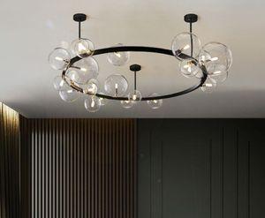 LED Postmodern Round Glass Bubbles Designer Lamparas De Techo Ceiling Lights.LED Ceiling Light.Ceiling Lamp For Foyer Bedroom