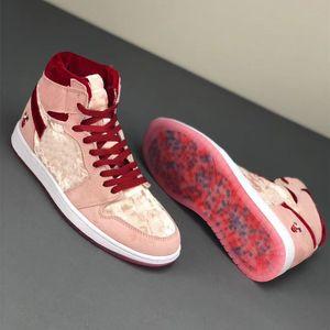 2020 Hoch 1S Seltsam Kateboard Schuhe OG Valentine Smoke Junpman Grau Bio Hack Bloodline Sat Basketball Männer Frauen Lace-up Outdoor-Sneaker