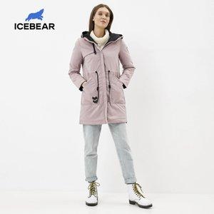 IceBear новые случайные утепленная ветрозащитной теплая весна куртки высокого качества с капюшоном куртки GWC20115D 201007