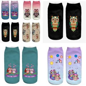 1D0NZ Çorap Kısa Baykuş Pamuk Japon Ince Hayvan Baskı Yaz Düşük Yardım ile X Çorap Çalıştırmak Metal Hız Han Guochun Renk Çorap Emici Tüp