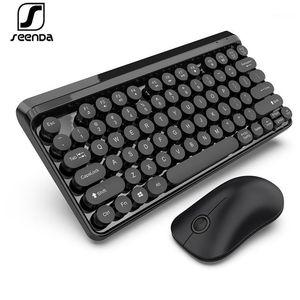 SEENDA 2.4G Teclado inalámbrico y conjunto de ratones Multimedia Keyboard Key Cap Multi System Compatible Wireless1