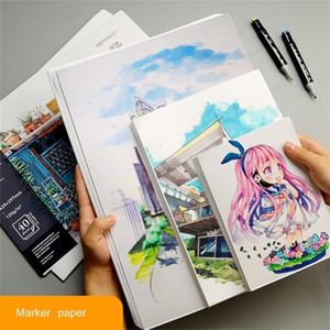 A4 A5 120gms Marker Paper Painting Paper Beginner Drawing Design Paper Student Hand Copy Graffiti Adult Painting Art Supplies 201225
