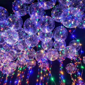 LED Bobo Balloon Transparent LED Night Light Balloons Wedding Xmas Party Lights Decor 3meter Party Decorations Balloon