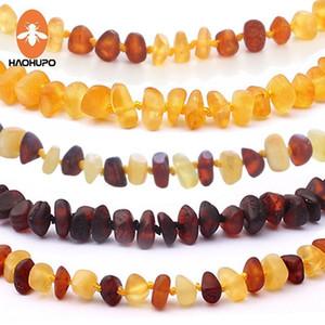 Haohupo 16 Farben Bernber Kinderkrankheiten Armband / Halskette für Baby Erwachsene Labor getestet Authentic 8 Größen Natürliche Bernstein Stein Frauen Schmuck