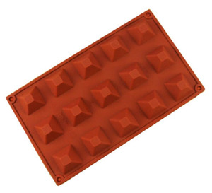 Silicone chocolate Mold pyramid resin soap molds ice candy jello gummy mould cake baking dessert pastry mold