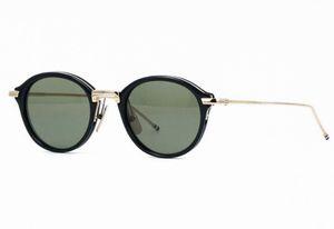 Nouveau cadre de lunettes optiques TB011 49-21-150mm planche à lunettes de soleil rondes lunettes de lunettes de lunettes TB-011 Femmes hommes Myopia Cadres avec boîte originale