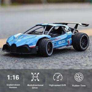 RC سيارة 1:16 360 درجة القيادة / h سبيكة مجنزرة التحكم عن سباق الانجراف مركبة اللعب اللعب للطفل LJ201209