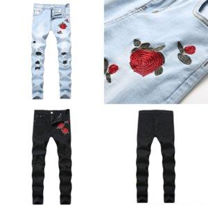 Ohcero Mens Tutto Skinny Jeans Hole Gamba Apertura Zipped Uso Slim Fit Plus Size Cool Good Jeans per uomo Stagione Urban Vento