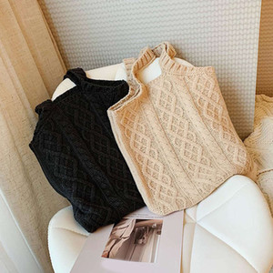 New Designer wool Knitting Handbags totes For Women Casual Shoulder book Ladies Ins Fashion Large Capacity Shopping Bag