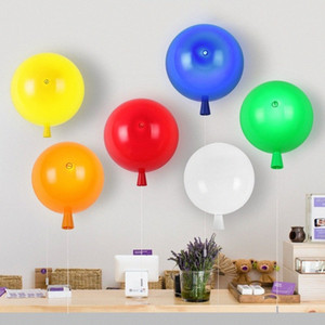 Renkli Balon Duvar Lambası Çocuk Odası Karikatür Lambası Anaokulu Bar Odası Dekoratif Duvar Festivali Sconce Işıklar dV4B #