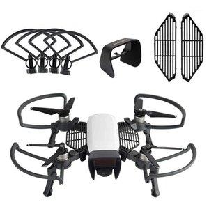 Para DJI Spark Drone Accessories Kits, Propeller Guards Aterrizaje plegable, Sombra de Sun Shade, Tablero de protección de los dedos (paquete de 3) 1