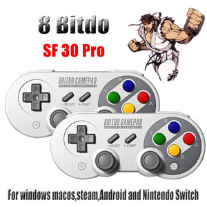 pour 8Bitdo SF30Pro / SN30 USB Pro 2.4G sans fil Bluetooth Gamepad Switch / Windows / macOS / Android Rumble vibrations R30