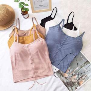 Sport bra Women Sexy Lingeries Underwear Beauty Back Camis Female Padded Camisole Knitted Tank Tops New1