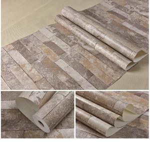 Antico Brick Wall Paper 3D Tre Dimensional Brick Culture Stone Wallpaper Negozio di abbigliamento Restaurant Internet Bar Decorazione