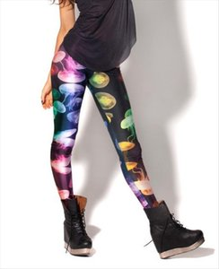 Summer Autumn Full Color Women Galaxy Leggings Digital Jellyfish printed Leggings pants Leggins Free Shipping GL 29