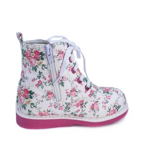 Ortoluckland Baby Girls Cuero Zapatos casuales Zapatos ortopédicos para niños niños Lace Up Blanco Primavera Otoño Invierno Botas romanas LJ201203