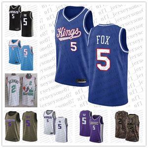 Benutzerdefinierte Männer Frauen Jugend SacramentoKings.2 Mitch Richmond # 5 De'aaron Fuchs Camo Basketball Swingman Realtree Collection Jersey