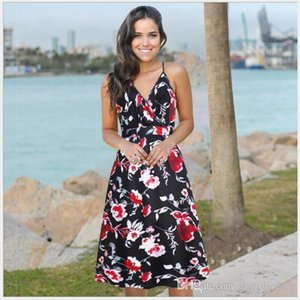 694 Women's Jumpsuits,Casual Dresses, Rompers skirt floral dress with sleeveless dresses nuevo estilo vestido para chicas mujeres wt19