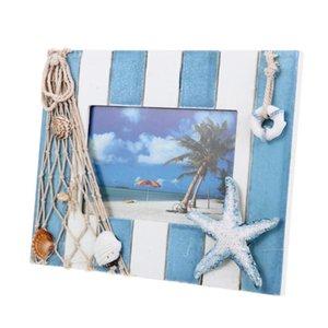 1pc stile nautico foto cornice in legno cornice decorazione desktop decorazioni desktop