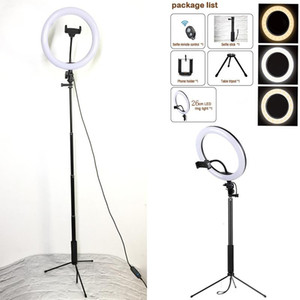 Ring Light Photo with Phone Holder 3colors Led USB Plug with Tripod for Phone Photo