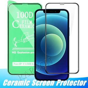 Полная крышка керамический экран протектор для iPhone 12 Pro Max 12Pro 11 Pro Max XS XR 8 7 6S плюс мягкий полноэкранный фильм без закаленного стекла