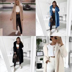 tvZ Long Autumn jacket women's leather Lambswool Crop Denim Jackets Women Casual Jeans Bomber Jacket Spring Sleeve Denim Coat