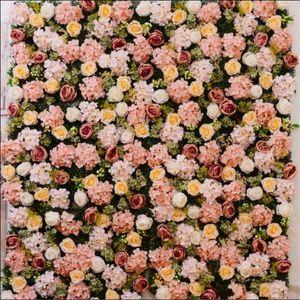 10pcs lot Artificial flower wall wedding background 40*60 cm lawn pillar flower road lead home market decoration 11 colors