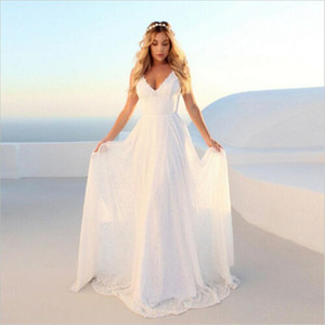 2021 Newest Womens White Long Lace Dress Sexy Elegant Formal Party Prom Wedding Bridesmaid Ball Gown Dresses