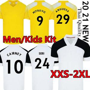 20 21 21 MITROVIC Cairney Soccer Jerseys League 2020 2021 Knockert Seri Lemina Anguissa Casa Away Away Yellow Men + Bambini Camicie di calcio Uniformi