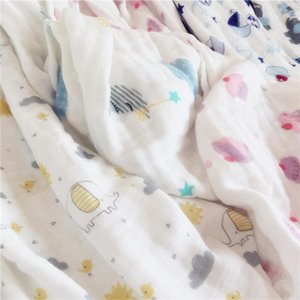 Baby Thin Summer Cool Air Conditioning Quilt Bamboo Fiber Four-Layer Baby Gauze Bath Towel Childrens Blanket Towel Baby Summer