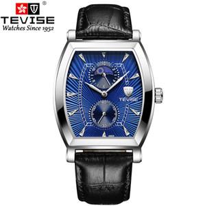 Swiss Tevise трансграничный электронная коммерция горячий стиль часы шесть-контактный винный баррель прямоугольный не механический мужчина полностью автоматический кварцевый часы