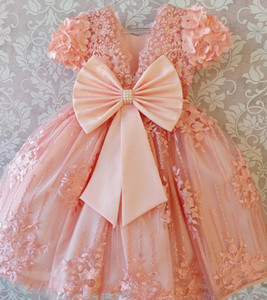 Lovely 2020 Infant Mini Short Flower Girls Dresses For Wedding Toddler Kids Ruffles Baby Girls Glitz Crystal Beaded Pageant Cupcake Gowns