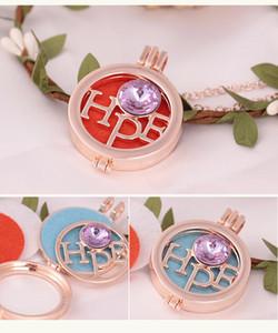 Locket Halskette öffnen Antike HOPE Aroma Diffuser Halskette Perfume Ätherisches Öl Aromatherapie Halskette