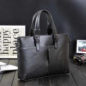 Men's business PU leather handbag briefcase famous brand sacoche homme messenger bags laptop tote bag LJ201012