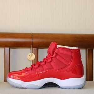 Mens 11 basquete sapatos vermelhos Preto 11s Mulheres Concord Columbia Bred Space Jam momentos decisivos Gamma azul Legend final vôo sapatilha