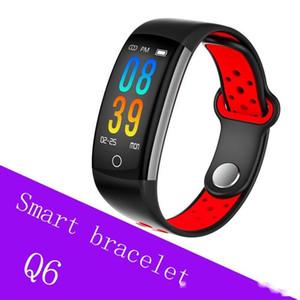 Cgjxs 스마트 팔찌 Q6 블루투스 Smartwatch를 남성 심장 박동 혈압 모니터 스포츠 시계 피트니스 추적기를 들어 스마트 폰