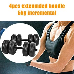 2020 Creative Design Fitness Water-filled Dumbbell Fitness Equipment Can Adjust Convenient Water Injection Dumbbell Dropshipping